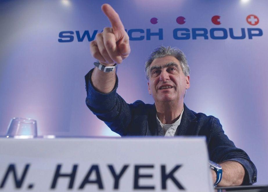 """""""Es wäre eher ein Identitätsproblem für den SMI, der ein Spiegel der Schweizer Schlüsselindustrien sein sollte"""", sagte Swatch Group über einen potenziellen Ausschluss aus dem SMI. Im Bild: CEO Nick Hayek"""