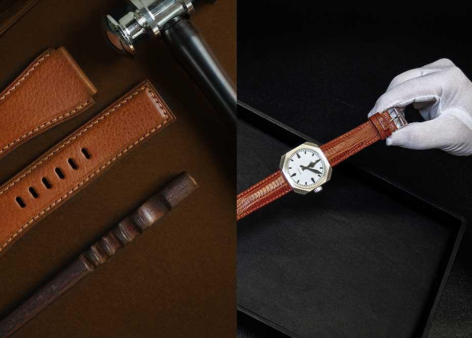 Uhrenarmbänder aus hochwertigem Leder können dem Juwelier helfen, den Verkaufspreis von Uhrenarmbändern auf 80 Euro und mehr zu steigern.