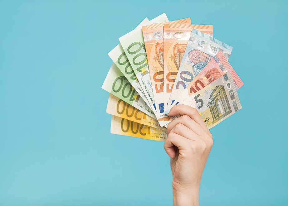 Limitierung für Bargeldzahlungen
