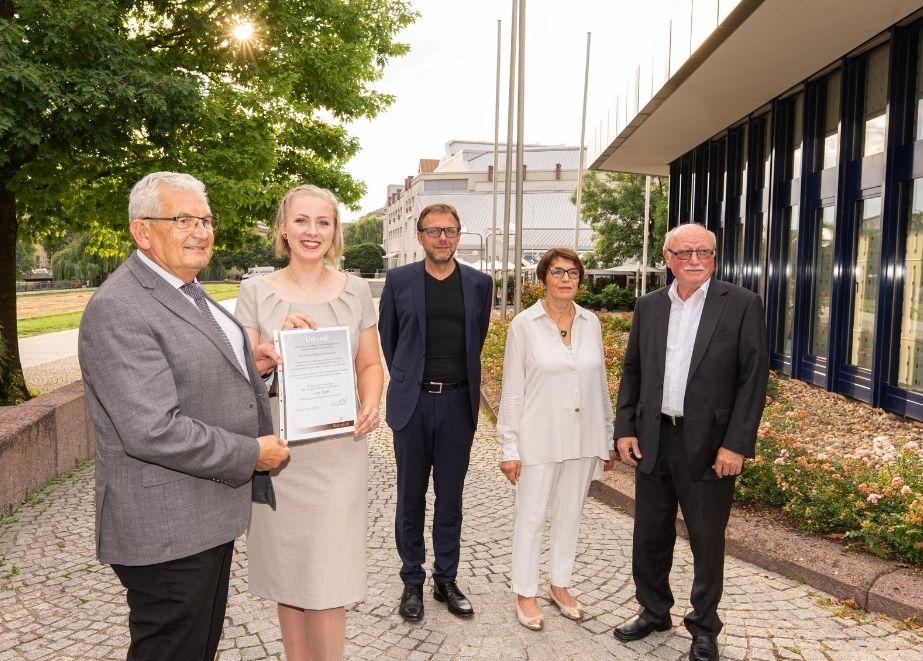 Lena Stahl gewinnt den Ernst-Alexander-Wellendorff-Gedächtnispreis.
