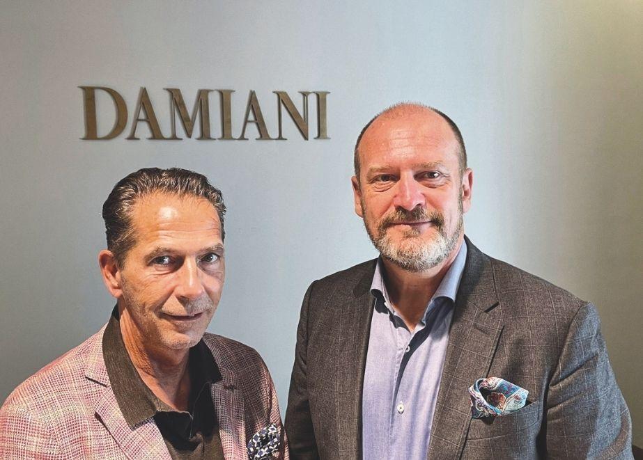 Die international starke Schmuckmarke Damiani will mit dem engagierten Vertriebsduo Robert Ponholzer (li.) und Wolfgang Lackner (re.) nun auch hierzulande beim Juwelier für brillanten Umsatz sorgen.